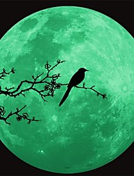 1Pcs 34Cm*34Cm  Romantic Luminous Moon Wall Stickers Novel Fluorescent Lighting Wall Poster  Decoration  Gift