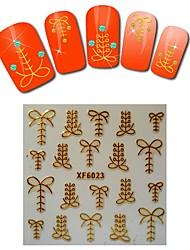 1sheet  Gold Nail Stickers XF6023