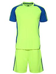 Men's Soccer Clothing Sets/Suits Breathable Comfortable Summer Patchwork Terylene Football/Soccer Yellow White Black Blue Orange