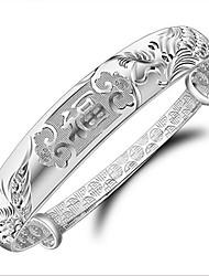 S925 Feng Fu Silver Bracelet