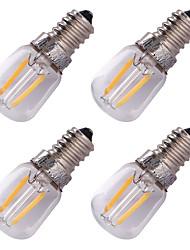 Youoklight 4pcs e14 2w führte Glühbirne warmweiß 3000k 150-200lm - transparent silber (ac 220v)