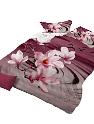 Mingjie 3D Reactive Rose System  Bedding Sets 4 Pcs for Queen Size Contain 1 Duvet Cover 1 Bedsheet 2 Pillowcases from China