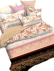 Mingjie 3D Reactive  New style  Flowers  Bedding Sets 4 Pcs for Queen Size Contain 1 Duvet Cover 1 Bedsheet 2 Pillowcases from China