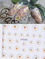 1 pcs The Ultra-Thin Hand-Painted Daisy Flower  Nail Stickers