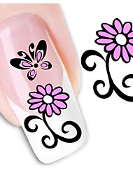 1sheet  Water Transfer Nail Art Sticker Decal XF1467