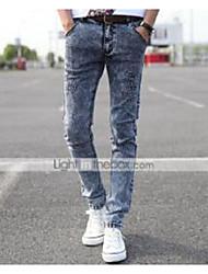 AOLONGQISHI® Men's Casual Pure Pant (Cotton/Denim) 8190