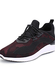 Men's Sneakers Spring Fall Fabric Casual Flat Heel Gore Black/ Black and Red Walking