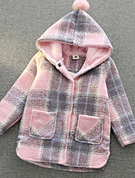 Girl Going out Casual/Daily Rainbow Patchwork Suit & Blazer,Cotton Linen Polyester Winter Spring Fall Long Sleeve