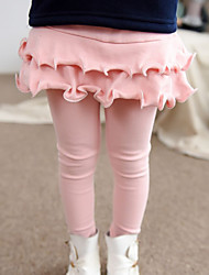 Girl's Fashion Cotton Solid Color Spring/Fall Casual/Daily/Going out Children Cartoon Divided Skirt Culotte Trousers Skirt