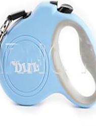 Chien Laisses Ajustable/Réglable Solide Bleu Plastique