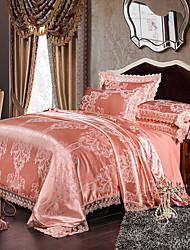 Betterhome  Luxury Jacquard Silk Cotton Blend 4pcs Duvet Cover Bed Sheet Pillowcase Bed Linen