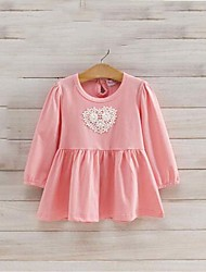 Girl's Print Dress,Cotton Spring Fall Long Sleeve