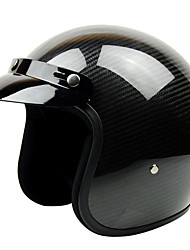 GXT G-361 Carbon Fiber Anti-fog Breathable Half Helmet Harley'S Retro Helmet Racing Dedicated
