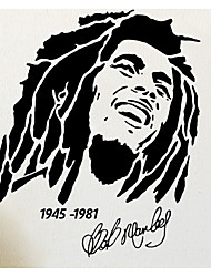 Bob Marley 1945 -1981 Wall Stickers Famous Singer Wall Decals For Kids