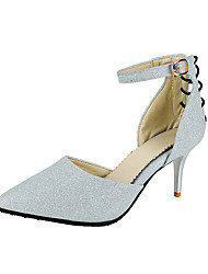 Women's Heels Spring Summer Fall Winter Synthetic Wedding Dress Party & Evening Stiletto Heel Sliver Red Champagne