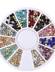 Mezzling Mixed Glitter Nail Art Wheels Sharp End Crystal Colorful Rhinestones Perfect Design Nail Beauty Decoration Tools