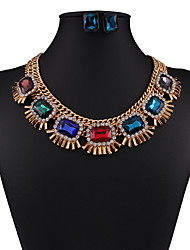 European and American fashion retro all-match drop jewel Necklace 0211#