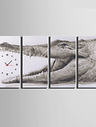E-HOME® Crocodile Clock in Canvas 4pcs