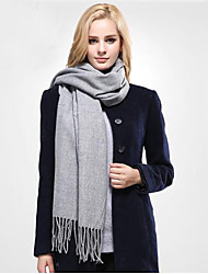 Women Winter Cotton Solid Scarf Casual Pashmina Studios Tassels Wraps