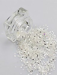 1Box Bright Dazzing Color Nail Mini Round Glitter Decoration Stickers Nail Thin Paillette 3D DIY Bottle Tips Y08