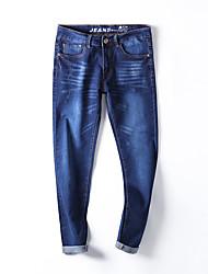 Hommes Grandes Tailles Mince Jeans Pantalon,Vintage simple Street Chic Décontracté / Quotidien Travail Soirée Couleur Pleine Taille Basse