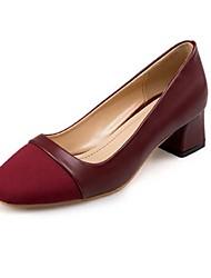Women's Heels Spring Summer Fall Winter Comfort Light Soles PU Office & Career Casual Low Heel Chunky Heel