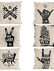 Set of 6 Rock series pattern  Linen Pillowcase Sofa Home Decor Cushion Cover