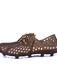 Herren Sandalen Komfort Transparente Schuh PU Sommer Herbst Normal Komfort Transparente Schuh Schwarz Braun Blau Flach
