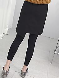 une robe de laine leggings faux deux
