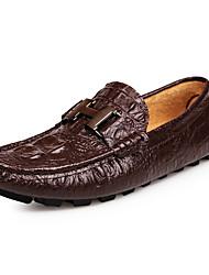 Для мужчин обувь Кожа Весна Лето Осень Зима Удобная обувь Мокасины и Свитер С металлическим носком Назначение Повседневные Для вечеринки