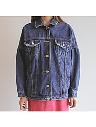 2017 Famous Fashion Institute of wind casual loose long-sleeved denim jacket Jackets
