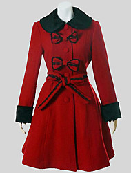 Coat Classic/Traditional Lolita Vintage Inspired Cosplay Lolita Dress Solid Long Sleeve Medium Length Coat For Woolen