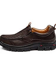 Черный Бордовый Темно-коричневый-Мужской-Повседневный-Кожа-На плоской подошве-Удобная обувь-Мокасины и Свитер
