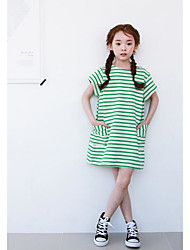 Girl's Casual/Daily Striped Dress,Rayon Summer