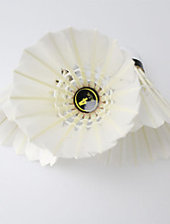 Badminton Balles(Blanc,Plume de canard) -Durable