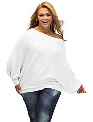 Women's Off Shoulder Bat Long Sleeves Loose Fit Sweater
