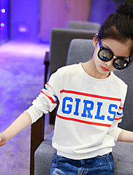 Girl's Fashion Going out Casual/Daily Holiday Print Tee Spring/Fall Children Cotton Long Sleeve Cartoon Base Shirt Blouse