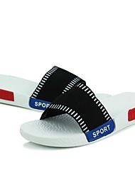 Herren-Sandalen-Outddor Lässig-LeinwandKomfort-Schwarz Rot Weiß