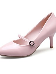 Women's Heels Spring Summer Fall Other Comfort Patent Leather Wedding Outdoor Office & Career Party & Evening Dress Casual Low Heel Buckle