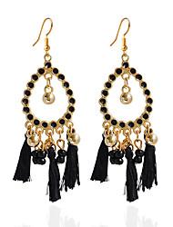 Drop Earrings Hoop Earrings Earrings Set Jewelry Women Wedding Party Daily Acrylic 1 pair Black White Blue