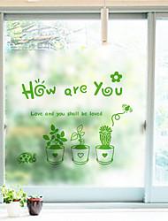 Цветы Классика Стикер на окна,ПВХ/винил материал окно Украшение