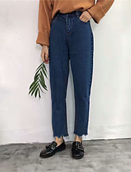 nova versão coreana do clássico selvagens entalhes irregulares calças de brim