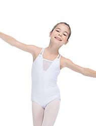 Ballet Leotards Women's Children's Training Cotton Tulle Lycra Criss-Cross Splicing 1 Piece Sleeveless Leotard