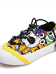 Girl's Sneakers Comfort Canvas Casual Blue Yellow