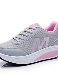 Women's Shoes shake shoes breathable mesh shoes single shoes Blue Pink Gray Walking