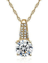 Exquisite fashion necklaces eight heart eight arrows zircon micro time-lapse # 0354