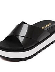 Cheap female slippers summer muffin heavy-bottomed non-slip waterproof high-heeled sandals comfortable flat sandals