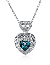 Necklace Crystal AAA Cubic Zirconia Pendant Necklaces Jewelry Daily Casual HeartUnique Design Dangling Style Rhinestone Heart Cute Style
