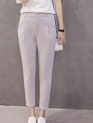 Women's Harem Chinos Pants,Going out Casual/Daily Work Simple Cute Street chic Solid High Rise Zipper Others Inelastic Spring Summer