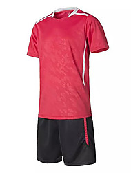 Men's Soccer Shirt+Shorts Clothing Sets/Suits Breathable Spring Fall/Autumn Classic Polyester Football/Soccer